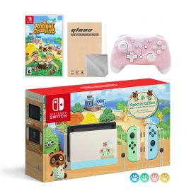 Nintendo Switch Animal Crossing Special Version Console Set, Bundle With Animal Crossing: New Horizons And Mytrix Wireless Switch Pro Controller and Accessories