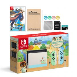 Nintendo Switch Animal Crossing Special Version Console Set, Bundle With Pokemon Sword And Mytrix Accessories