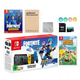 Nintendo Switch Fortnite Wildcat Limited Console Set, Epic Wildcat Outfits, 2000 V-Bucks, Bundle With Animal Crossing: New Horizons And Mytrix Accessories