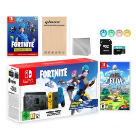 Nintendo Switch Fortnite Wildcat Limited Console Set, Epic Wildcat Outfits, 2000 V-Bucks, Bundle With Legend of Zelda Link's Awakening And Mytrix Accessories