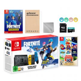Nintendo Switch Fortnite Wildcat Limited Console Set, Epic Wildcat Outfits, 2000 V-Bucks, Bundle With Super Mario 3D All-Stars And Mytrix Accessories