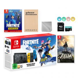 Nintendo Switch Fortnite Wildcat Limited Console Set, Epic Wildcat Outfits, 2000 V-Bucks, Bundle With Zelda: Breath of the Wild And Mytrix Accessories