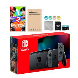 Nintendo Switch Gray Joy-Con Console Set, Bundle With 1-2 Switch And Mytrix Accessories