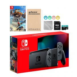 Nintendo Switch Gray Joy-Con Console Set, Bundle With Immortals Fenyx Rising And Mytrix Accessories