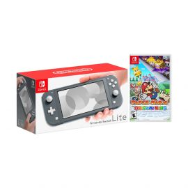 Nintendo Switch Lite Gray Bundle with Paper Mario: The Origami King NS Game Disc - 2020 Best Game!