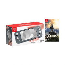 Nintendo Switch Lite Gray Bundle with The Legend of Zelda: Breath of the Wild Game Disc - 2019 Best Game!