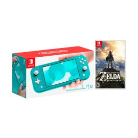 Nintendo Switch Lite Turquoise Bundle with The Legend of Zelda: Breath of the Wild Game Disc - 2019 Best Game!