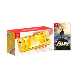 Nintendo Switch Lite Yellow Bundle with The Legend of Zelda: Breath of the Wild Game Disc - 2019 Best Game!