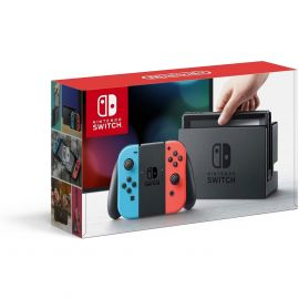 Nintendo Switch with Neon Blue and Neon Red Joy-Con (Used Like New)