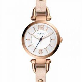 NWT Fossil ES4340 Georgia 26MM Women's Beige Leather Watch