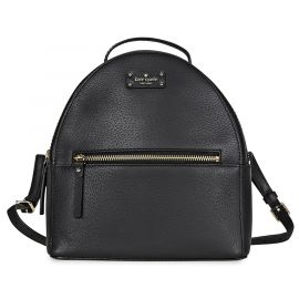 NWT KATE SPADE SAMMI GROVE STREET BACKPACK SOLID BLACK PEBBLE LEATHER XL BAG
