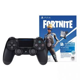 PlayStation 4 DualShock 4 Wireless Controller - Jet Black with Fortnite Neo Versa Bundle Digital Download Card