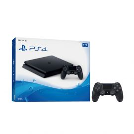 Playstation 4 Slim 1TB Jet Black Gaming Console Bundle With an Extra Black DualShock 4 Wireless Controller