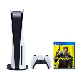 PlayStation 5 Console Disc Version Bundle with Cyberpunk 2077 Game Disc