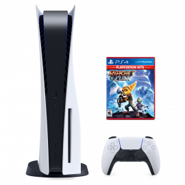 PlayStation 5 Disk Version Console with Wireless Controller & Ratchet and Clank