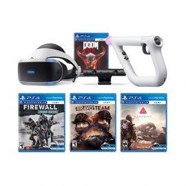 Playstation VR Aim Controller Enhanced 4 FPS Games Collection Bundle: Doom VFR, Firewall Zero Hour, Bravo Team, Farpoint, PSVR Aim Controller and PSVR Starter Bundle