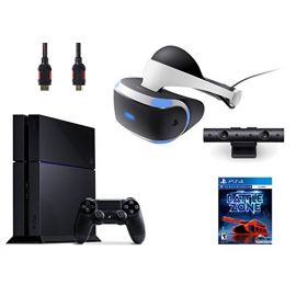 PlayStation VR Bundle 4 Items:VR Headset,Playstation Camera,PlayStation 4,VR Game Disc PSVR Battlezone