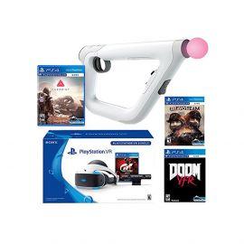 PlayStation VR FPS Classic Bundle (5 Items): PlayStation VR – Gran Turismo Bundle, PSVR Doom VFR Game, PSVR Bravo Team Game, PSVR Farpoint Game and PSVR Aim Controller