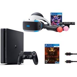 PlayStation VR Launch Bundle 3 Items: VR Launch Bundle,PlayStation 4 Slim 1TB and and VR Game Disc PSVR Until Dawn: Rush of Blood