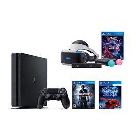 PlayStation VR Launch Bundle 3 Items:VR Launch Bundle,PlayStation 4 Slim 500GB Console - Uncharted 4,VR Game Disc PSVR Battlezone