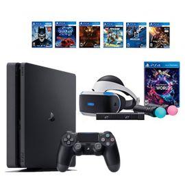 PlayStation VR Launch Bundle 8 Items:VR Launch Bundle,PlayStation 4,6 VR Game Disc PSVR Until Dawn: Rush of Blood,PSVR EVE: Valkyrie,PSVR Battlezone,Batman: Arkham VR, PSVR DriveClub,PSVR Battlezone