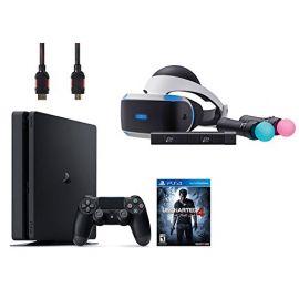 PlayStation VR Start Bundle 4 Items:VR Headset,Move Controller,PlayStation Camera Motion Sensor,PlayStation 4 Slim 500GB Console - Uncharted 4