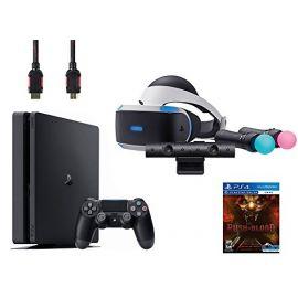 PlayStation VR Start Bundle 5 Items: VR Start Bundle,Sony PS4 Slim 1TB Console - Jet Black,VR game disc PSVR Until Dawn: Rush of Blood