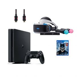 PlayStation VR Start Bundle 5 Items:VR Headset,Move Controller,PlayStation Camera Motion Sensor,PlayStation 4,VR Game Disc Batman Arkham VR