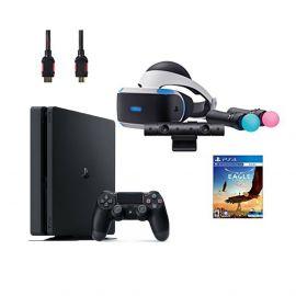 PlayStation VR Start Bundle 5 Items:VR Headset,Move Controller,PlayStation Camera Motion Sensor,PlayStation 4 and VR Game Disc Eagle Flight