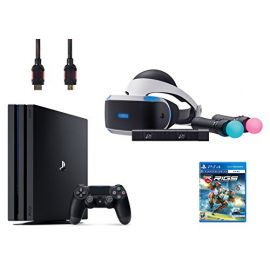 PlayStation VR Start Bundle 5 Items:VR Headset,Move Controller,PlayStation Camera Motion Sensor,PlayStation 4 Pro 1TB,VR Game Disc RIGS Mechanized Combat League
