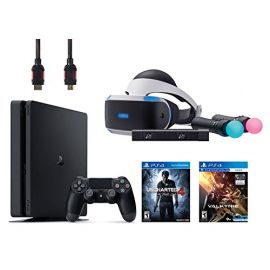 PlayStation VR Start Bundle EVE Valkyrie 5 Items:VR Headset,Move Controller,PlayStation Camera Motion Sensor,PlayStation 4 Slim 500GB Console - Uncharted 4,VR Game Disc PSVR EVE Valkyrie