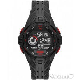 PUMA P5042 Bold LCD Black Polyurethane Watch