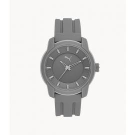 PUMA P6006 Analog Three-Hand Gray Silicone Watch