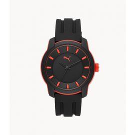PUMA P6007 Analog Three-Hand Black Silicone Watch