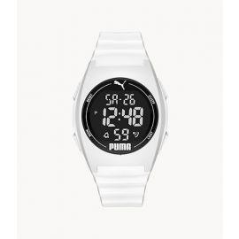 PUMA P6012 Digital White Polyurethane Watch