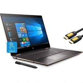 """Refurbished HP Spectre x360 2-in-1 Touchscreen Laptop, 4K UHD 15.6"""", Core i7-10510U, GeForce MX330 2GB Graphics, 16GB RAM, Backlit, Thunderbolt 3, 2TB NVMe PCIe SSD, Mytrix HDMI Cable, Win 10 with Pen"""