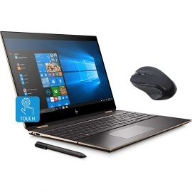 """Refurbished HP Spectre x360 2-in-1 Touchscreen Laptop, 4K UHD 15.6"""", Core i7-10510U, GeForce MX330 2GB Graphics, 16GB RAM, Backlit, Thunderbolt 3, 256GB SSD, Mytrix Wireless Mouse, Win 10 with Pen"""