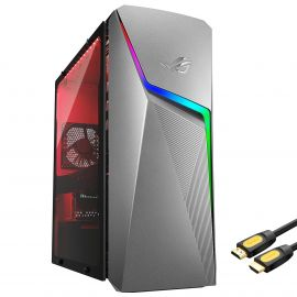 ROG Strix GL10DH Gaming Desktop, AMD Ryzen 5 3400G, GeForce GTX 1650 4GB, 16GB DDR4 RAM, 512GB SSD+1TB HDD, Wi-Fi, RJ-45 Ethernet, HDMI/DP/DVI, Mytrix HDMI Cable, Win10 w/keyboard and mouse