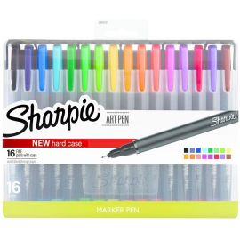 Sharpie174; Art Pens with Case, 16CT - Multicolor Multi (Used Like New)