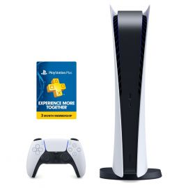 Sony PlayStation 5 Digital Edition Console with PlayStation Plus 3 Month Membership Code
