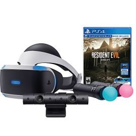 Sony PlayStation VR Resident Evil 7, resident evil 7 vr ps4:Biohazard Starter Bundle 4 items:VR Headset,Move Controller,PlayStation Camera Motion Sensor,Resident Evil 7:Biohazard Game Disc