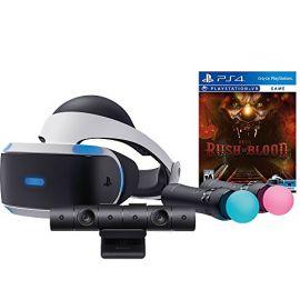 Sony PlayStation VR Rush of Blood Starter Bundle 4 items: VR Headset, Move Controller, PlayStation Camera Motion Sensor, PSVR Until Dawn: Rush of Blood