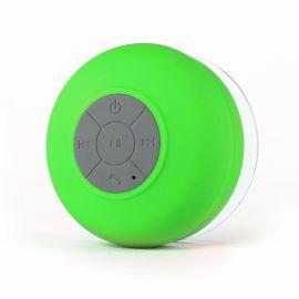 Splash Tunes Shower Speaker - Waterproof Bluetooth Shower Speaker, Portable, Hands Free, Wireless, Water Resistant, Shower Speaker with Built-in Mic and Suction Cup - Green