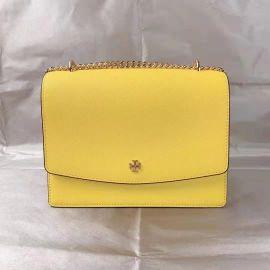Tory Burch 78604 0521 Women's Leather Crossbody Bag Shoulder Bag In Lemon yellow