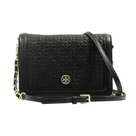 Tory Burch TB Bryant Combo Quilted Black Leather Cross Body Bag