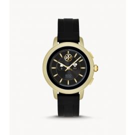Tory Burch TBT1000 Touchscreen Smartwatch–Black Silicone