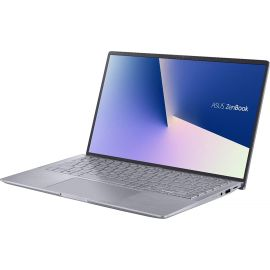 Used Acceptable ASUS Zenbook 14 Laptop - AMD Ryzen 5-8GB RAM - NVIDIA GEFORCE MX350-256GB SSD - Win 10, Light Gray