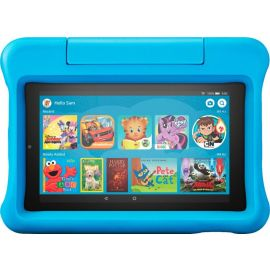 """Used Amazon - Fire 7 Kids Edition 2019 release - 7"""" - Tablet - 16GB - Blue"""
