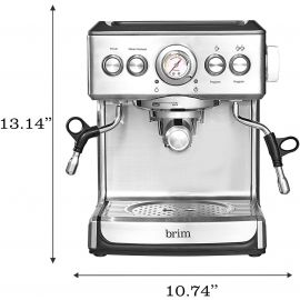 Used Brim - 19-Bar Espresso Maker - Silver