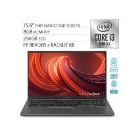 "Used Like New ASUS VivoBook 15 Thin and Light Laptop, 15.6"" FHD Display, Intel i3-1005G1 CPU, 8GB RAM, 256GB SSD, Backlit Keyboard, Fingerprint, Windows 10 Home, Slate Gray, F512JA-AS34"